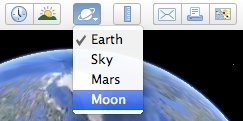 google earth moon toolbar option